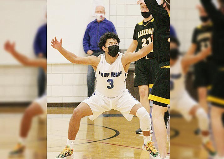 Camp Verde junior guard Chino Salas-Zorrilla, pictured earlier in the year, scored 14 points and had four steals Wednesday against Chino Valley. VVN/Bill Helm