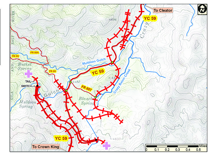 This map shows the railroad switchbacks. (Nigel Reynolds/Courtesy)