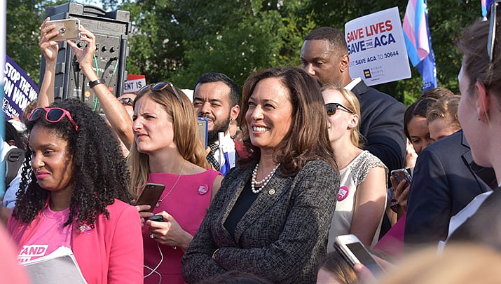 The U.S. Senate approved a measure to allow a COVID relief package to be approved with a simple majority, with Vice President Kamala Harris providing the tie-breaking vote in an evenly split Senate. (File photo by Office of Sen. Kamala Harris/Public domain)