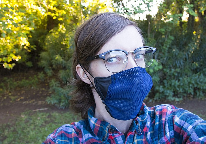 ASU Luminosity Lab's FloeMask is designed to promote an antifogging and cooling mask experience. Developers hope comfortable masks will eliminate one objection to wearing them. (Photo courtesy of ASU Luminosity Lab)
