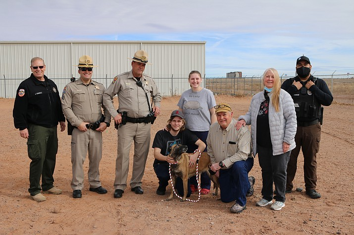 Nushka, a retired K-9 was found safe after being lost for 19 days following a vehicle accident on State Route 377 Jan. 11. (Photo/Navajo County Sheriff's Office)