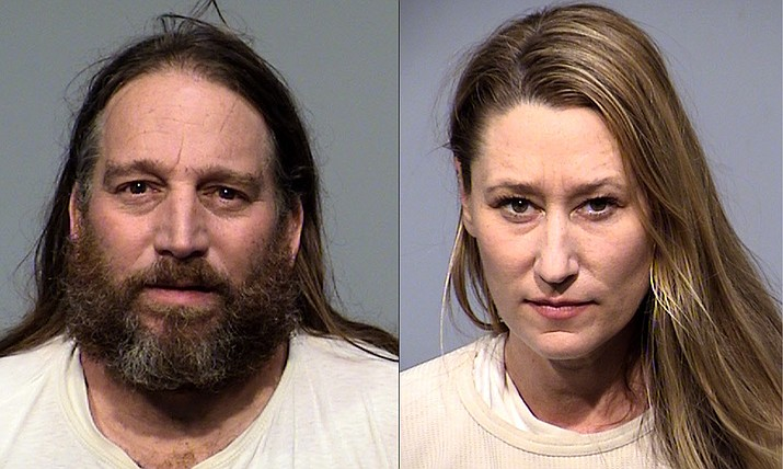 Adam Dearmon and Tiffany Michelle Smith of Verde Valley were arrested on multiple drug charges Feb. 2, 2021. (YCSO/Courtesy)