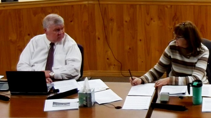 In a 4-3 vote on Tuesday night, Feb. 2, 2021, the Dewey-Humboldt Town Council let go Interim Town Manager Jim Thomas (left) without cause after less than 90 days served. (Town of Dewey-Humboldt/Courtesy)