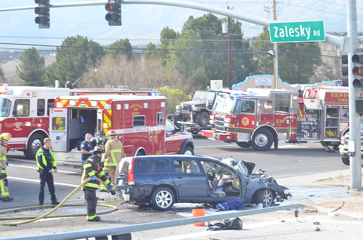 State Route 89a was closed at Zalesky Road in Bridgeport for a vehicle accident on Friday morning. VVN/Vyto Starinskas