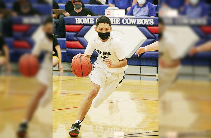 Camp Verde junior guard Christoph Castro, pictured earlier in the year, broke his ankle against Page on Feb. 9. Head coach Dan Wall said he expects Castro to be out of action for the rest of the season. VVN/Bill Helm