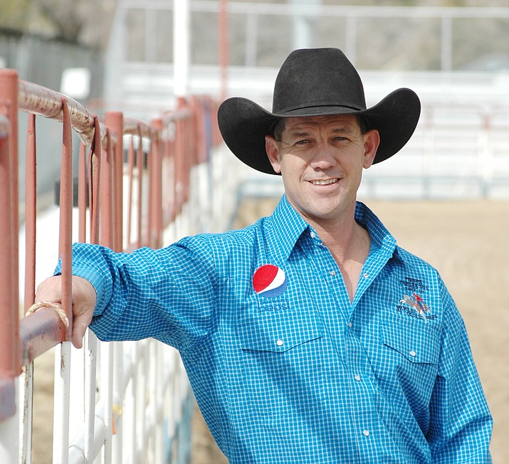 """Jim Dewey Brown, a two-time saddle-bronc riding champion in 1999 and 2003 (co-champ) at the """"World's Oldest Rodeo,"""" has been hired as the next general manager at Prescott Frontier Days. (Doug Cook/Courier)"""