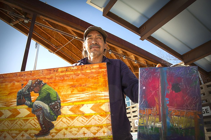 Coconino Community College alum Randall Wilson features new artwork on the college campus highlighting the modern and traditional compilations he has completed.  (Photo/Coconino Community College)