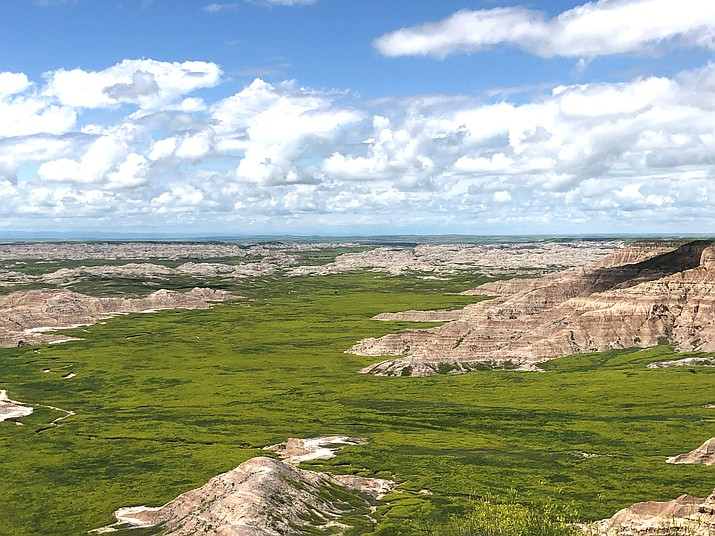 Sheep Mountain Trail is in the Stronghold Unit of Badlands National Park, located on the Pine Ridge Indian Reservation.  Oglala Sioux rangers help manage this area of the park. (Photo/Robert and Martha Manning)