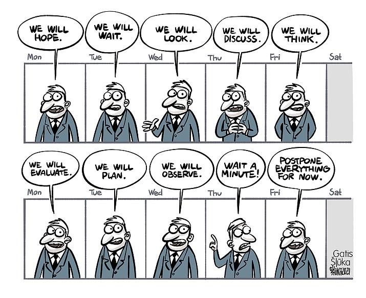 Editorial cartoon (2): Feb. 18, 2021