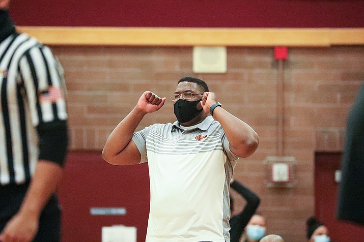 Mountain Pointe High School coach Kaimarr Price said he was grateful news of the positive COVID-19 test from the Desert Vista program came before the two teams played and not after. (Alina Nelson/Cronkite News)