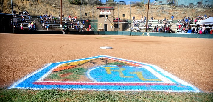 This 2018 file photo shows Opening Day ceremonies at Bill Vallely Field in Prescott. The 2021 Prescott Little League season is scheduled to get underway April 12, and the league is now taking player signups. (Courier file photo)