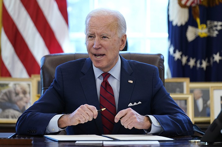 President Joe Biden is extending a ban on housing foreclosures to June 30 to help homeowners struggling during the coronavirus pandemic. (Evan Vucci/AP)