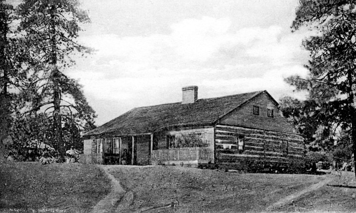 The Old Governor's House in 1880s. Call#1403.0534.0006(Sharlot Hall Museum Research Center/Courtesy)