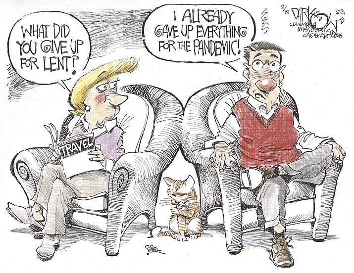 Editorial cartoon (2): Feb. 21, 2021