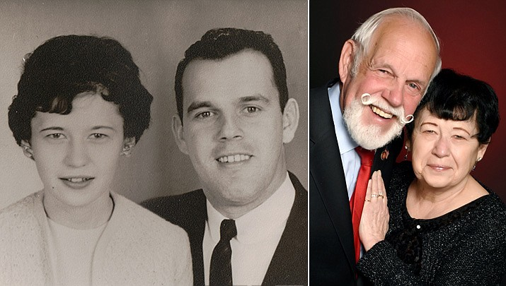 On Feb. 20, 1961, Vern and Bev Pierson were married at The First Baptist Church in Reno, Nevada. They met in San Francisco, California, while both were working at the Great American Insurance Company. While living in California they gave birth to their three children, James, Pamela, and Edward. Vern's career resulted in several relocations with three being to Arizona, an area the family truly grew to loved. In 1989, Vern and Bev moved to Prescott where they remain today with Bev retired from the medical field and Vern from the insurance industry. Once the COVID-19 pandemic is no longer a threat they will celebrate their 60th anniversary on a Mississippi River Cruise. (Courtesy photos)