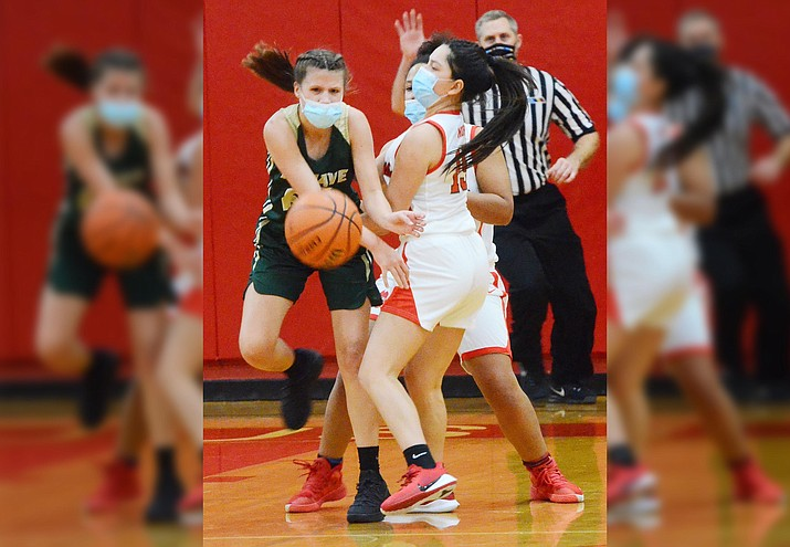 There's no place like home for the Mingus Union girls basketball team as the local girls trounced Barry Goldwater High School, 57-36, on Feb. 12. VVN/Vyto Starinskas
