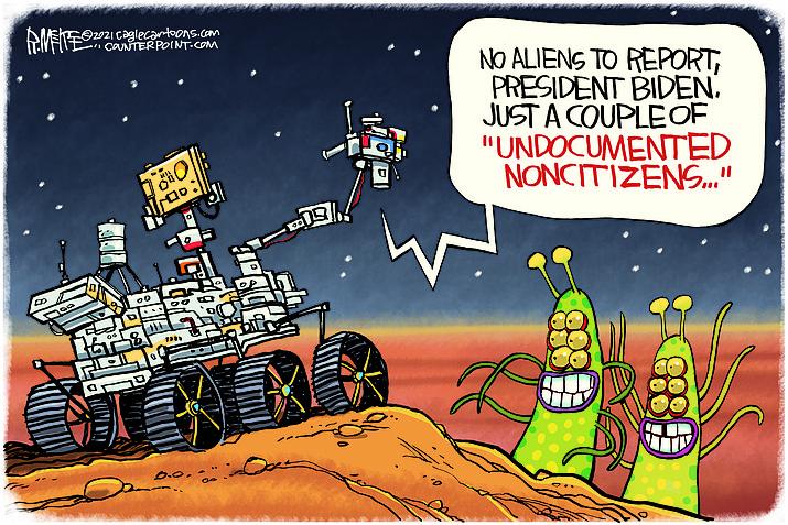 Editorial cartoon (2): Feb. 22, 2021