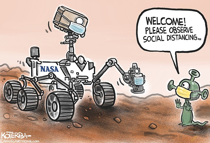 Editorial cartoon (1): Feb. 22, 2021
