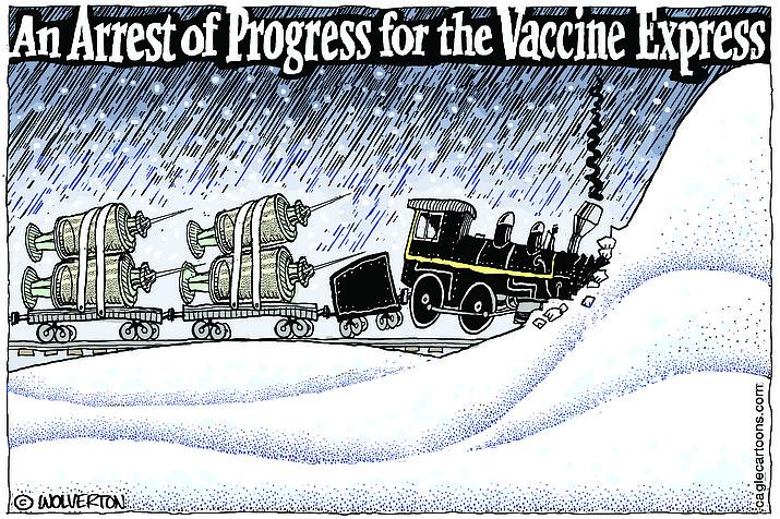 Editorial cartoon (1): Feb. 20, 2021