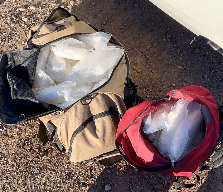 Forty-eight pounds of meth found by the Yavapai County Sheriff's Office during a K9 unit stop on Interstate 17 north of Sunset Point in Yavapai County. (YCSO)