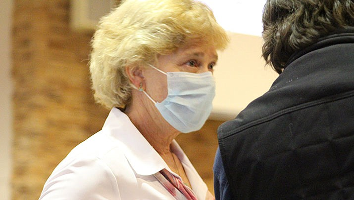 Mohave County Public Health Director Denise Burley is shown at a recent meeting of the county board of supervisors. (Miner file photo)