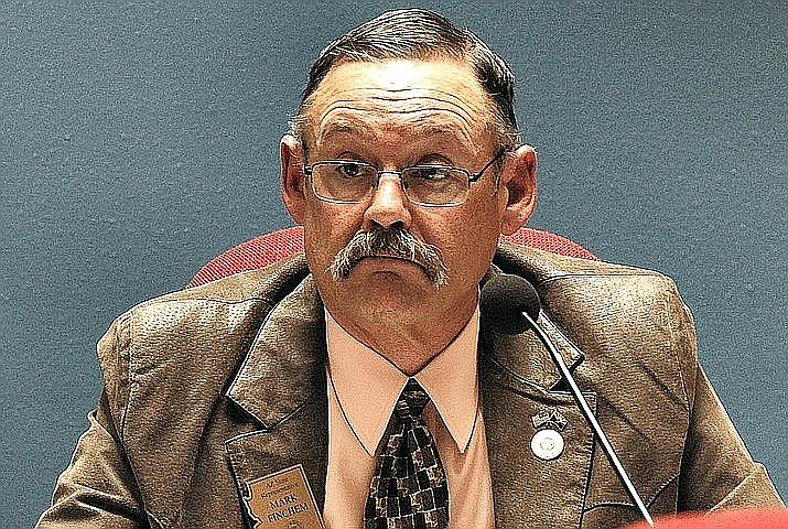 The chair of the House Ethics Committee won't pursue a complaint by Rep. Mark Finchem against Democrat lawmakers. Rep. Becky Nutt, R-Clifton, on Friday pointed out how she had dismissed 82 complaints that had been filed against the Oro Valley Republican, concluding there was nothing there that merited further examination. Capitol Media Services file photo by Howard Fischer