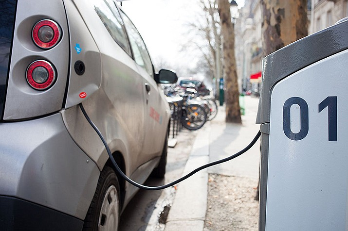 The availability of charging stations is just one of the challenges to widespread adoption of electric vehicles. The car's supporters in Arizona say much progress has been made in recent years, but that much more work needs to be done. (Håkan Dahlström/Creative Commons)