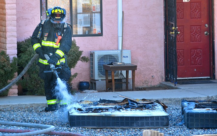 Copper Canyon Fire Marshal Ken Krebbs said firefighters arrived quickly at an apartment fire on West Head Street on Saturday morning. Krebbs said the fire was quickly contained and only damaged one apartment. VVN/Vyto Starinskas