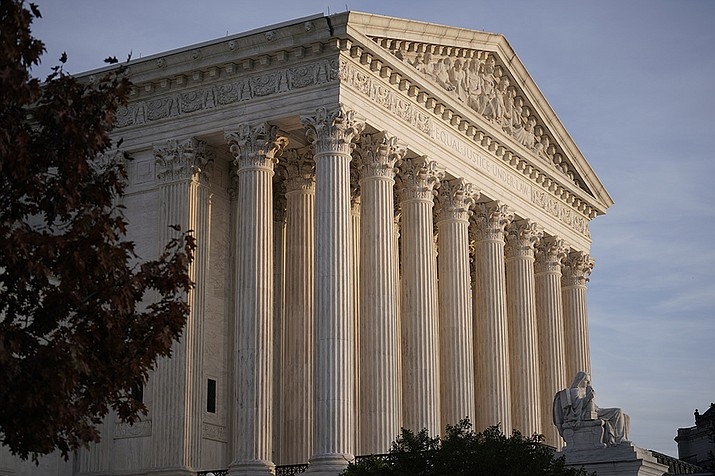 This Nov. 5, 2020 file photo, shows the Supreme Court in Washington. (J. Scott Applewhite, AP File)