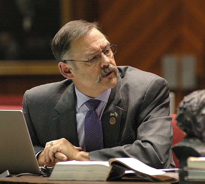 "Cleared of violations by the chair of the House Ethics Committee, Rep. Mark Finchem wants an investigation into the conduct of Democratic lawmakers who went after him. Committee Chair Sen. Sine Kerr says the Democratic lawmker allegations were not ""unethical."" (Howard Fischer/Capitol Media Services, file)"