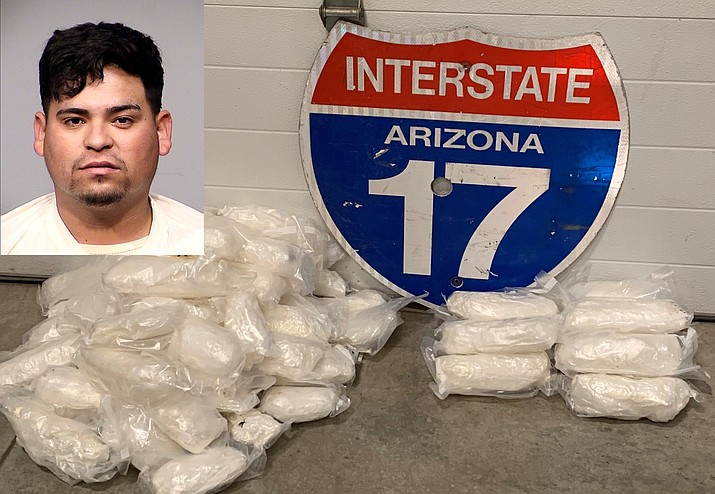 Forty-eight pounds of meth found by the Yavapai County Sheriff's Office during a K9 unit stop on Interstate 17 north of Sunset Point in Yavapai County. (Courtesy of YCSO)