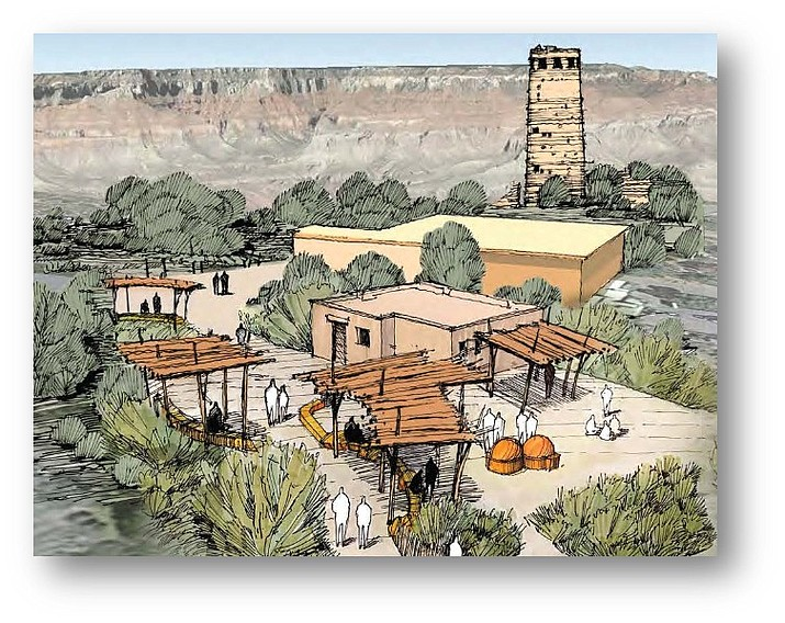 A reimagined Inter-tribal Cultural Heritage Site at Desert View Watchtower, located at the eastern entrance of Grand Canyon National Park will allow visitors to learn about and interact with Arizona tribal members. (Photo/Grand Canyon Conservancy)