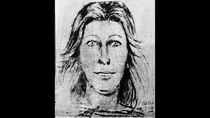 "An artist's rendition of ""Valentine Sally"" ran in the Feb. 25, 1982 edition of the Williams News. 40 years later the victim has been identified as Carolyn Eaton of St. Louis, Missouri. (Photo/WGCN archive)"