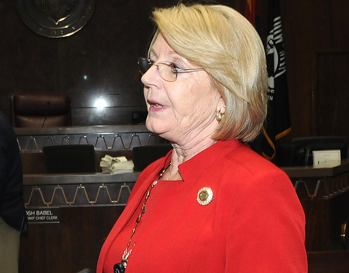 The Arizona Legislature may increase the state's weekly benefit for the unemployed. State Sen. President Karen Fann is shown. (File photo by Howard Fischer/For the Miner)