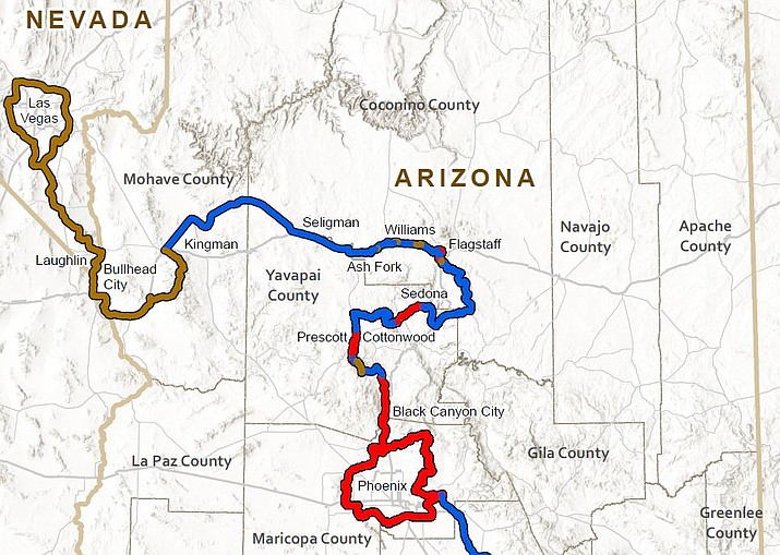 The 1,500-mile Sun Corridor Trail will connect Douglas with Las Vegas, passing through Mohave County and Kingman. ATVs, bikes and horses will be welcome. Several ATVs are shown below. (City of Kingman courtesy photos)