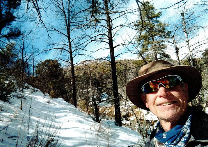 The author hiking in Grapevine Canyon. (Ted Johnson/Courtesy)