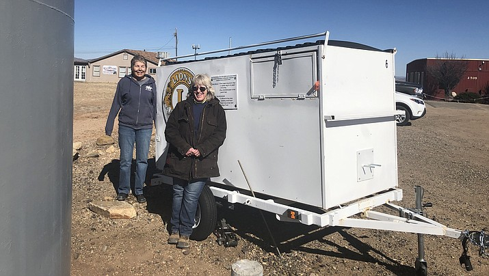 Pictured from left to right is Angelique LeVell, executive director of Horses with Heart, and Pam Berry operations director at Horses with Heart. (Chino Valley Area Chamber of Commerce/Courtesy)