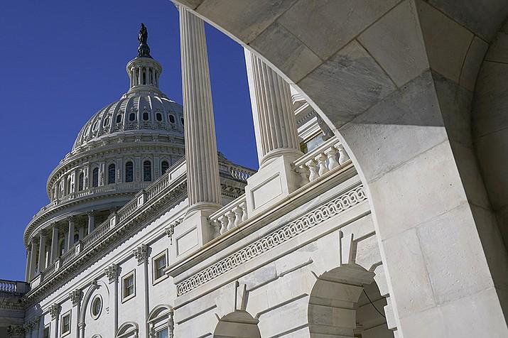 Sun shines on the U.S. Capitol dome, Tuesday, March 2, 2021, in Washington. (Patrick Semansky/AP)