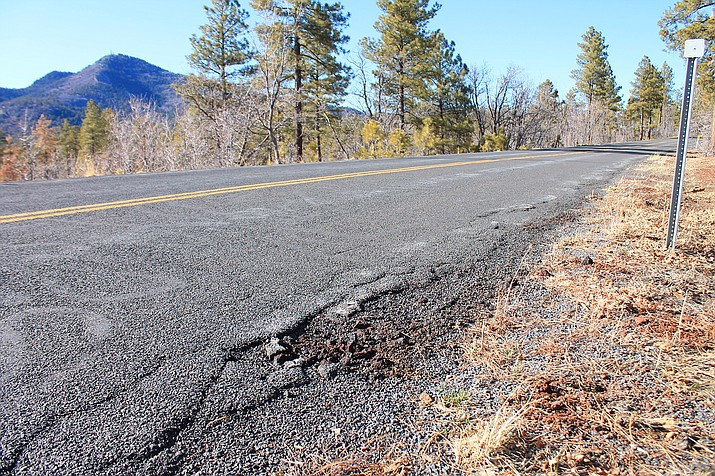 Coconino County has submitted a grant for funding to repair Perkinsville Road, located south of Williams. If approved, the project would provide $15 million to repair 8.55 miles of roadway. (Loretta McKenney/WGCN)