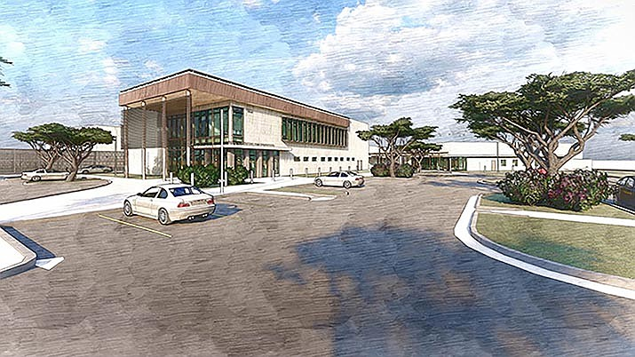 The new justice center will include a 140-bed detention facility. The 90,000-square-foot center is set to include courtrooms and a non-custodial mental health clinic. Courtesy image/Yavapai County