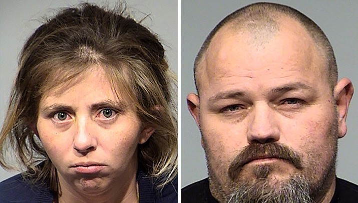Crystal Cox, left, and Michael May. Courtesy of Yavapai County Sheriff's Office