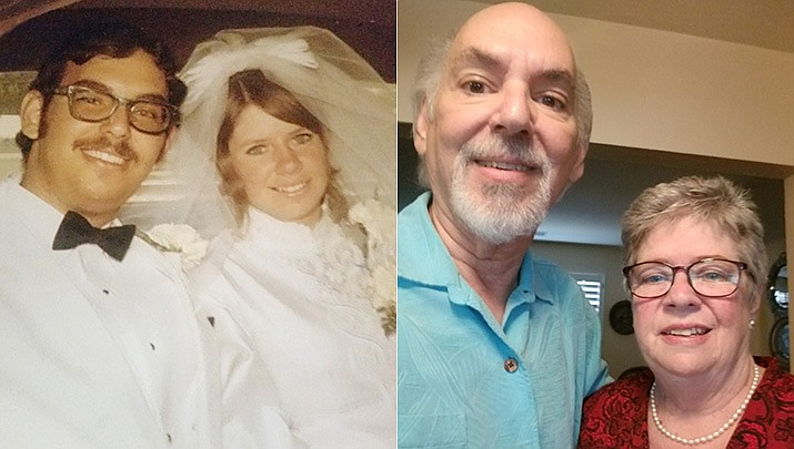 On March 13, 1971, Gary and Juanell Stramandinoli were married at St. Gregory's Catholic Church in Phoenix, Arizona. They both love cars and met while cruising Central Ave on Friday and Saturday nights. Their boys, Steve and Kevin, were born and raised in Phoenix. Juanell was a stay-at-home mom until the boys where in school and then volunteered at St. Gregory's school. Gary was in the plant nursery business for 54 years until he retired in 2019. When they moved to Prescott 25 years ago Juanell was hired at Target and retired in 2019 after 25 years. When the pandemic is no longer a threat the couple will celebrate their 50th anniversary with family and friends. (Courtesy)