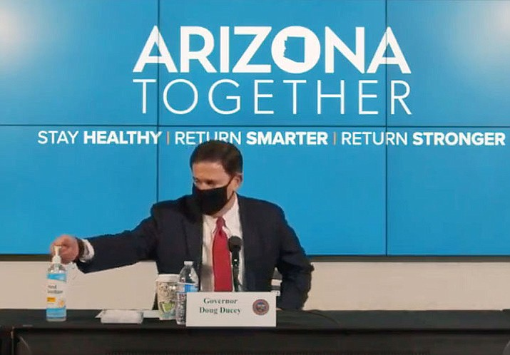 """Last week, Gov. Doug Ducey  issued an executive order requiring most of the state's K-12 schools to get back to in-person instruction by March 15. Dr. Joshua LaBaer, the executive director of ASU Biodesign Institute, said Wednesday it's """"an odd time"""" to lift the mask mandates. Cronkite News file photo"""