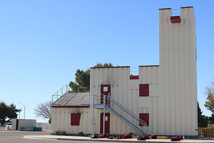 Completion of the training grounds at Fire Station 22 at Harrison Street and Andy Devine Avenue was one of the accomplishments listed by Kingman Fire Chief Jake Rhoades during his annual report to council on Tuesday, March 2. (Photo by Travis Rains/Kingman Miner)