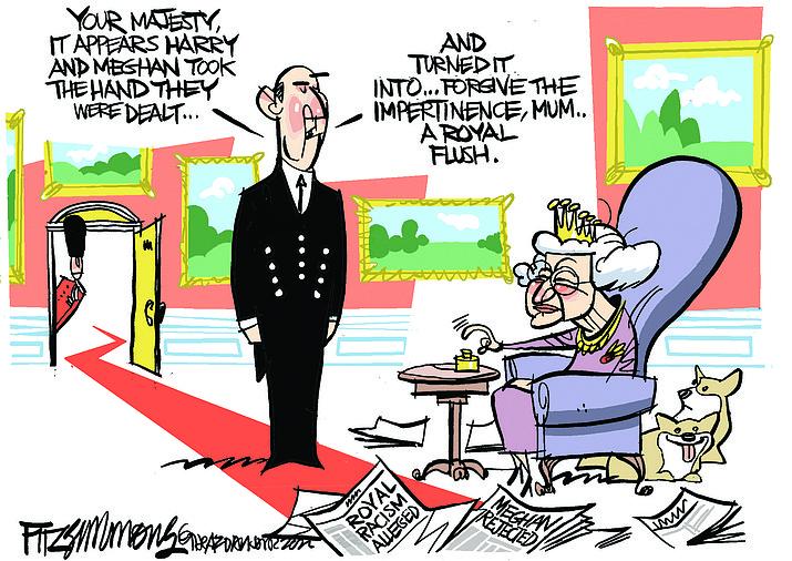 Editorial cartoon (2): March 13, 2021