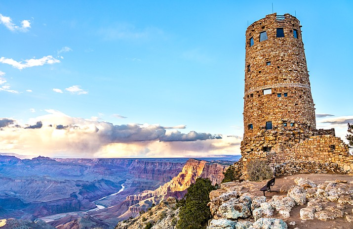 Desert View Watchtower is located in Grand Canyon National Park near the eastern gate which borders the Navajo Nation. (Photo/Adobe Stock)