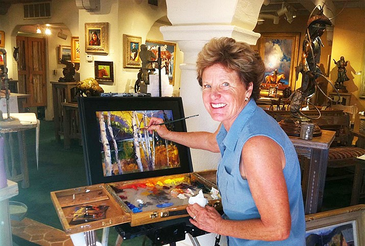 Betty Carr paints in Mountain Trails Gallery. In honor of Women's History Month, the city of Sedona and its Arts and Culture Program are following the lead of the National Museum of Women in the Arts in Washington, D.C., to celebrate women artists for the second year in a row.
