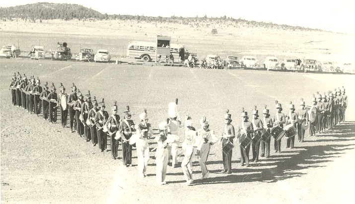 The Williams High School drum and marching corp in 1950. (Photo/Williams Historic Photo Archives)