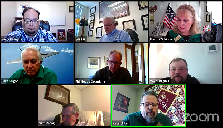 The CYMPO board meets virtually Wednesday, March 17, 2021, agreeing improvements to the interchange at highways 89 and 89A should be a priority. (Screenshot)