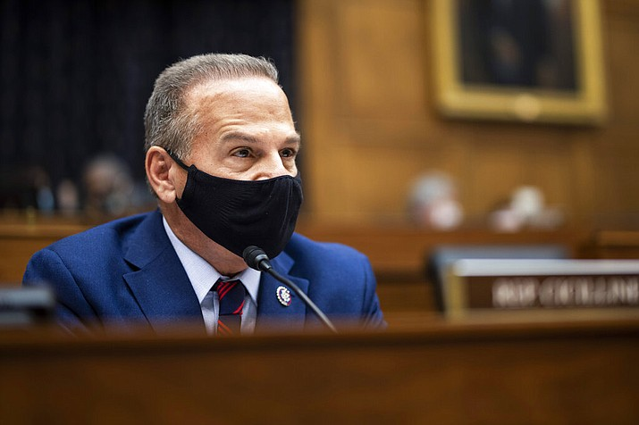 """In this file photo, Rep. David Cicilline, D-R.I., speaks during the House Committee on Foreign Affairs hearing in Washington. A bill sponsored by Cicilline, which was introduced in March for the third time since 2018, to bolster U.S. news organizations in negotiations with Big Tech has supporters hoping its odds of passage may have improved in a Democrat-run Congress that's working on overhauling antitrust laws. Cicilline said in prepared remarks for a hearing earlier this month that the legislation would provide news publishers an """"even playing field"""" to negotiate deals with major tech platforms. (Ting Shen/Pool via AP, File)"""